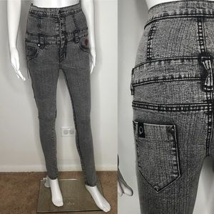 Peter Says Denim High Waisted Acid Wash Jeans 24